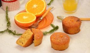 Gâteaux moelleux à l'orange et aux amandes