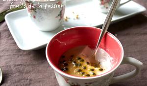 Blanc-manger coco et fruits de la passion