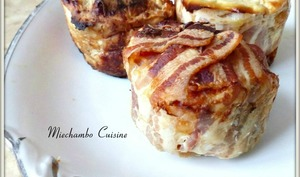 Pommes de terre lardées aux champignons de Paris et vin blanc