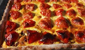 Tarte poulet-tomates