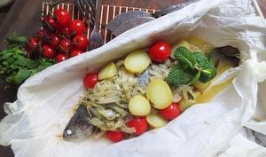 Truchas Encebolladas ou truites sauce oignons