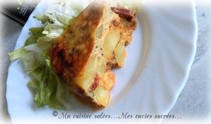 Tortilla pommes de terre- chorizo