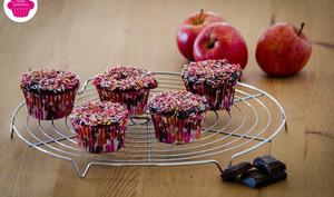 Muffins au chocolat et à la compote de pommes sans beurre
