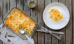 Gratin de macaronis à la courge butternut
