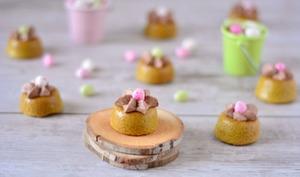Mini nids de Pâques chocolat et thé matcha