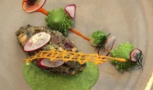 Tartare croustillant de thon et foie gras