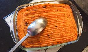 Hachis de patate douce à la sauge