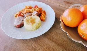 Filet mignon fondant aux carottes et à l'orange