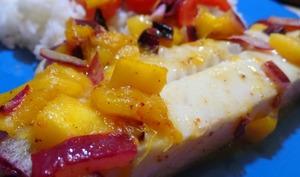 Filets de Flétan sauce à la Mangue