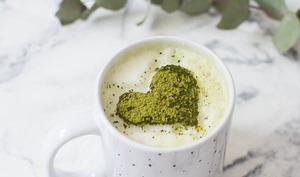 Cappuccino au thé matcha