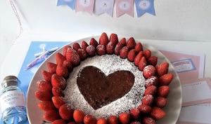 Gâteau au yaourt et fraises