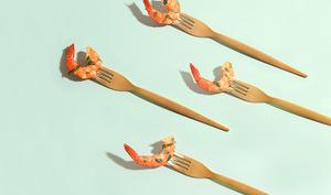 Crevettes aux épices et coriandre