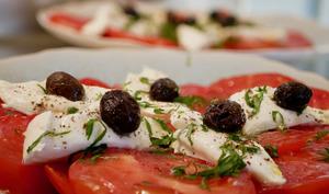 Tomates mozzarella et quelques épices