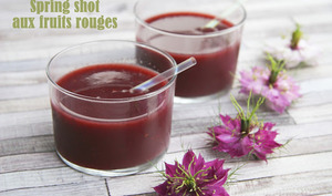 Spring shot aux fruits rouges