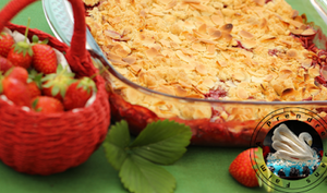 Crumble aux fraises et amandes effilées