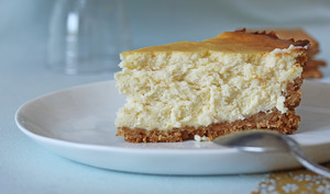 Cheesecake nature léger comme un nuage