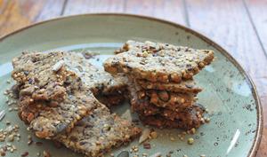 Biscuits crackers aux graines