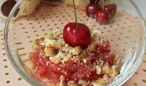 Crumble pomme et cerises