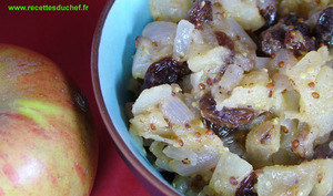 Chutney de pommes oignon et raisins secs