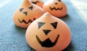Meringues citrouille d'Halloween