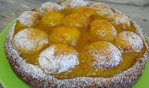 Biscuit mousseline aux abricots et sa compotée