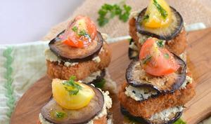 Mini burgers aux nuggets de soja