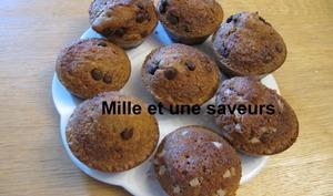 Muffin perles de sucre, muffin pépites de chocolat