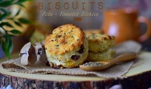Cookies aux tomates séchées et feta