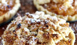 Tartelettes aux pommes, cannelle et crumble
