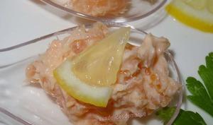 Cuillères apéritives aux saumons et crème citronnée