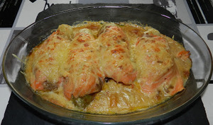 Roulades de chicons au saumon au four