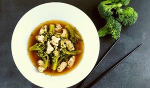 Bouillon miso dinde et brocoli