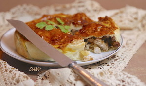 Tourte de dinde au foie gras