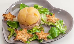 Dôme de pommes au foie gras