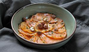 Courge et patate douce accompagnées de quinoa