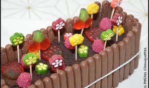 Cake au chocolat d'anniversaire