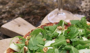 Pizza mascarpone et roquefort