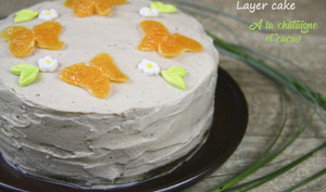 Layer cake à la farine de châtaigne et cacao