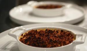 Crème brûlée aux endives et pain d'épices