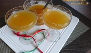 Soupe de cidre en cocktail