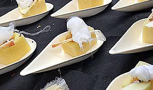 Chrysalide de Comté à la gelée de pomme/cannelle et espuma de Bertinchamp