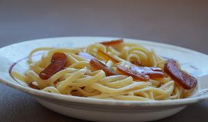 Linguine poutargue artisanale et huile d'olive