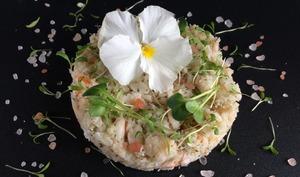 Tartare de crabe au yuzu
