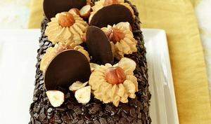 Cake café et praliné noisettes