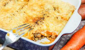 Hachis parmentier de boeuf et carotte