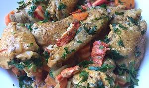 fricassée de poulet au homard