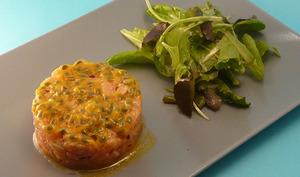Tartare de saumon aux fruits de la passion