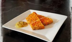 Terrine de carottes et cheddar à l'estragon