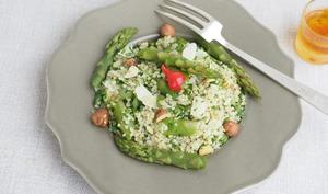 Salade de quinoa aux asperges et parmesan