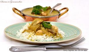 Curry d'agneau aux noix de cajou